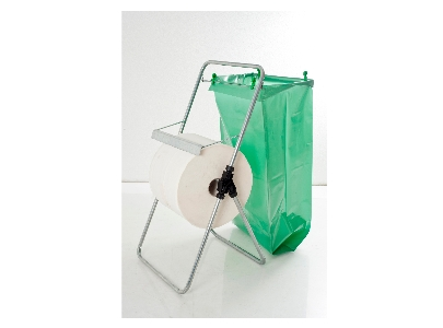 Art. 8101 Paper roll dispenser with bag holder